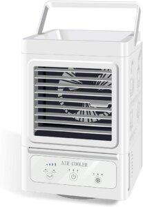 Personal Air Cooler, 5000 mAh Battery Operated 60 and 120Auto Oscillation,Portable Air Conditioner